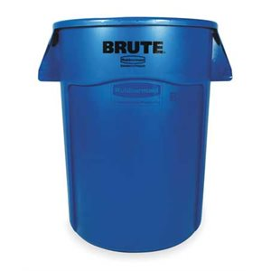'Brute' 44gal blue round recylcling container