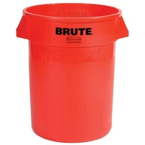 'Brute' 44gal round red container