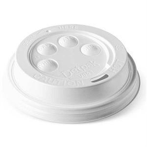 White cover dome for cardbnoard glass 8oz