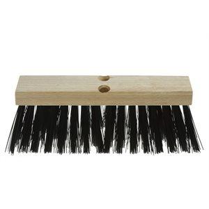 """Push street broom 14"""" block wood haevy sweeping"""