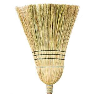 "Husky' Corn broom cane center 48"" 3 strings 1 wire"