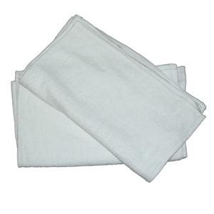White bordered frieze towels