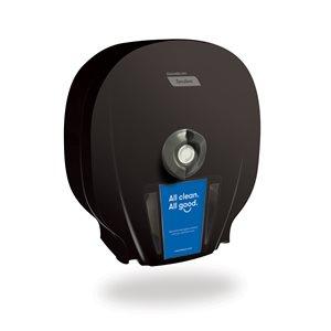 Distributrice de papier hygiénique haute capacité X4 Tandem, Noir