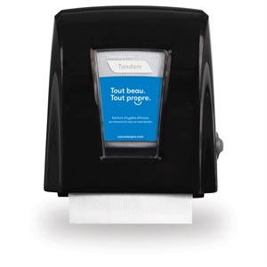 Tandem™ Small Footprint Roll Towel Dispenser Black