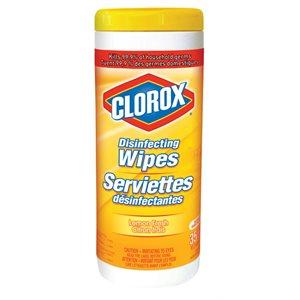 Serviettes désincfectantes CLOROX citron frais