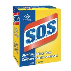 Tampons d'acier savonneux S.O.S 18 / bte