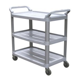 Gray Small utility cart with open sides