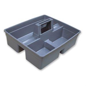 Grey plastic accessory holder
