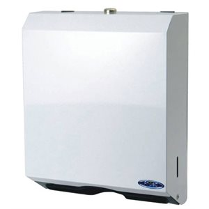"Multi fold paper / towel dispenser 11""x13.5""x4.125"" white metal"