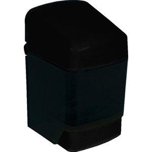 Push button soap dispenser 48 oz black plastic