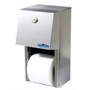 Distributrice acier inox à papier hygiénique simple