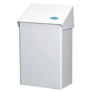 Contenant à serviettes sanitaires en métal blanc