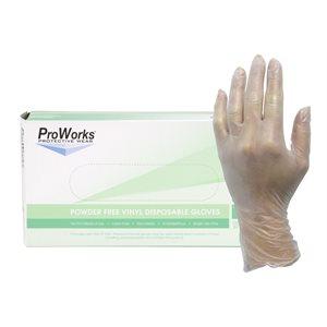 Vinyl glove without powder