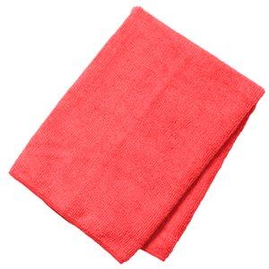 Linge microfibre rouge 10 / pqt