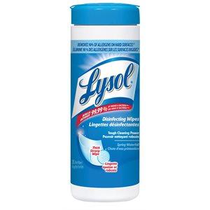 Serviettes désinfectante LYSOL *chute d'eau printannière* 35ct