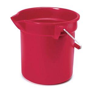 Seau rond en plastique 3.5 gal rouge