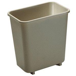 Rectangular wastebasket 2gal beige