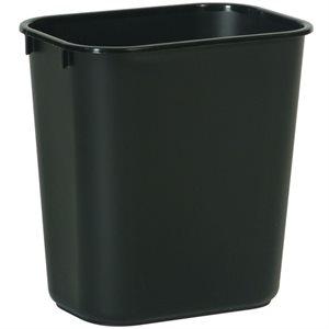 Rectangular wastebasket 3.25gal black