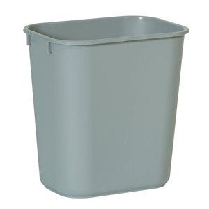 Rectangular wastebasket 3.25gal gray