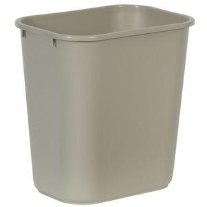 Rectangular wastebasket 7gal beige