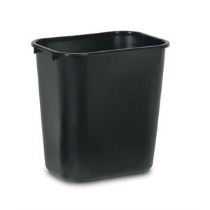 Rectangular wastebasket 7gal black