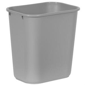 Rectangular wastebasket 7gal gray