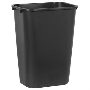 Rectangular wastebasket 10.25gal black