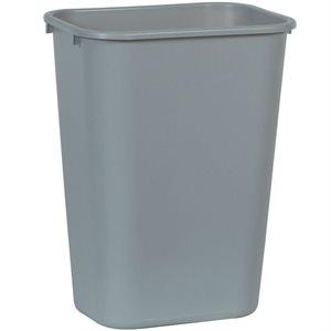 Rectangular wastebasket 10.25gal gray