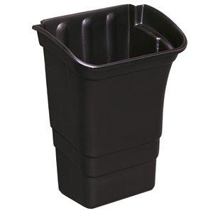 Bac à déchets 8gal noir
