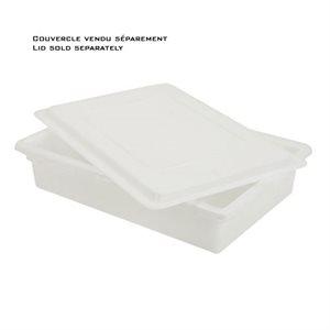Boîte à aliments en polyéthylène blanc 8.5 gal
