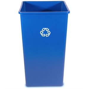 'Untouchable' recycable container 50gal blue