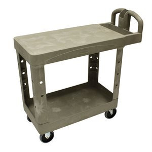 2-shelf utility cart flat shelf cap. 500lbs