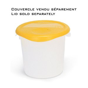 Round storage container 3.8L clear