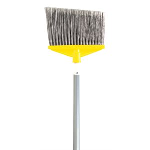 "Angle broom 10.5"" with 48"" aluminum handle"