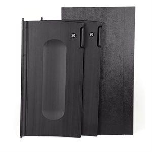 Black locking cabinet door kit
