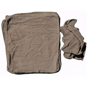 Seconds low end bordered cotton brown shop towel 50 / pk